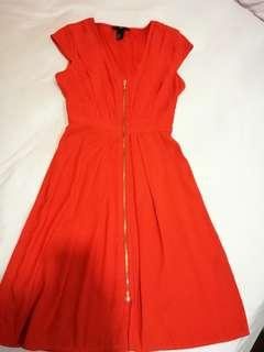H & M Orange polyester dress