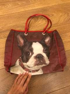 Anya hindmarch French bulldog tote bag