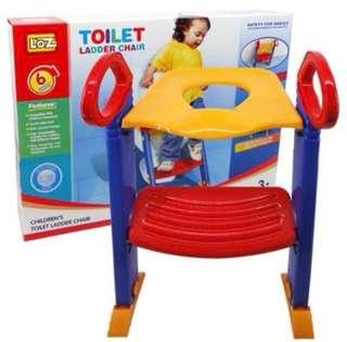 Toddler step up toilet seat trainer