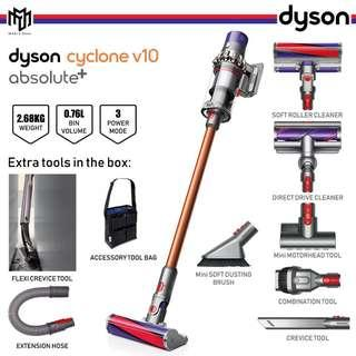🚚 Dyson Cyclone V10 Absolute+ Vacuum Cleaner