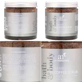 [ 預購 ] 全新 美國 Artnaturals,  Arabica Coffee Scrub 阿拉比卡咖啡身體磨砂(567g )