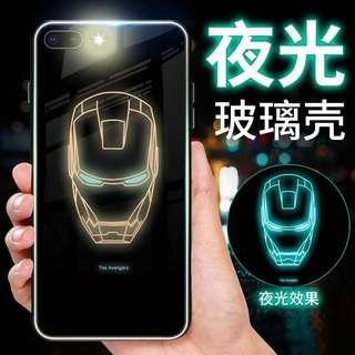 🚚 iron man luminescent iphone cases