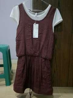 Maroon Dress Jumpsuit