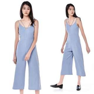 474d13cb22f TEM V-neck Ash Dusty Blue Jumpsuit
