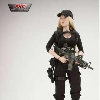 VCF-2021B - 1/6 Female Shooter - Black