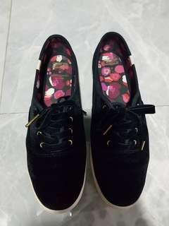 Keds for kate spade velvet black sneaker