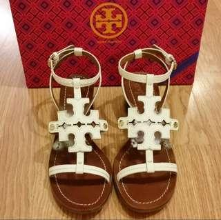 29c0635b140 (Authentic) Tory Burch Chandler Cutout Logo Leather Sandal