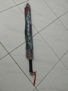 Fabric Japanese Wooden Umbrella