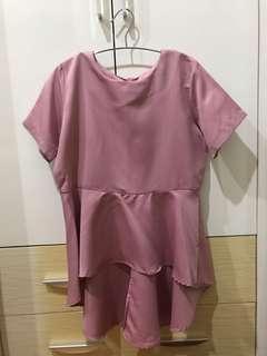 [PRELOVED] Peplum Top Pink