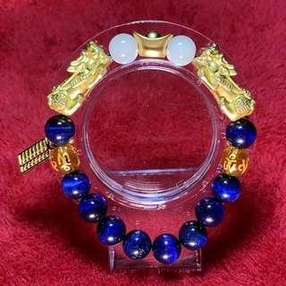 Pure 999 Authentic Gold Pixiu Bracelet (custom made)