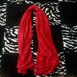 Red formal shawl