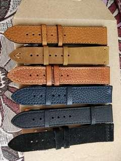 22mm Leather Watch Strap with Quick release spring bar