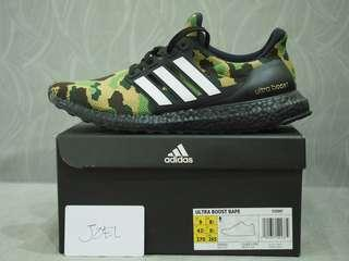 9US Adidas x BAPE Ultraboost Camo Green