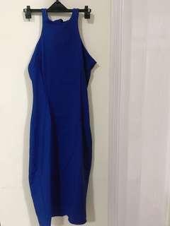 🚚 ZARA 時尚寶藍洋裝