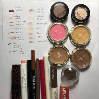 🚚 Assorted Korean japan makeup free nm