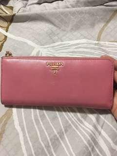 Prada Long Wallet Pink