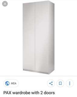 🚚 IKEA PAX 2door wardrobe