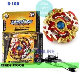 Beyblade Burst B-100 Spriggan Requiem.0Zt Balance Starter + Handle Launcher Toy