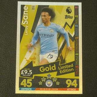 18/19 Match Attax Gold Limited Edition - Leroy SANE #Manchester City