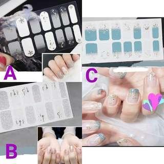 🚚 [FREE NM] Classy Elegant Glitter Nail Stickers