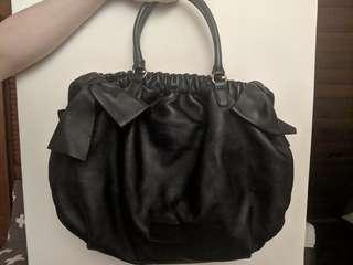 Red Valentino Black Leather Bag with Bow