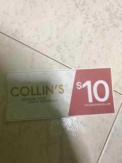 🚚 Collins restaurant voucher