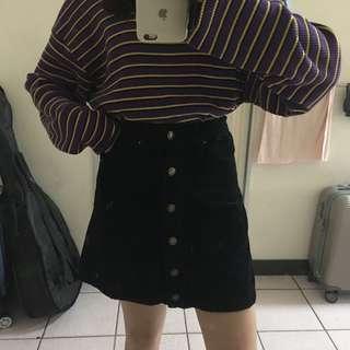 🚚 Spao排扣裙(燈芯絨材質)