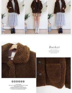 Teddybear outer QQ毛熊寶貝親膚保暖外套(購自dobe korea)