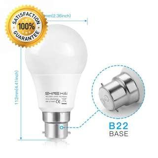 SHINE HAI B22 LED Bayonet Light Bulbs 60W Equivalent (6 pack)