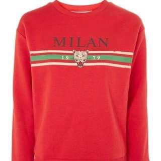 Milan Slogan Sweatshirt By Tee & Cake❤️ Topshop