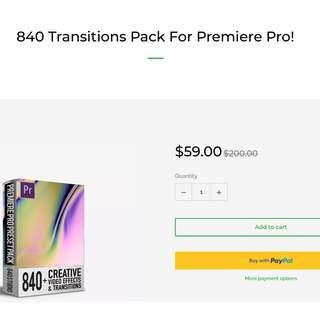 🚚 840 Transitions Pack for Premiere Pro - 640 Studios