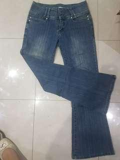 Mint flared Jeans size large