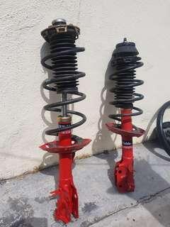 Honda city tmo twin tube gas'/ oil heavy duty front shock absorbers.