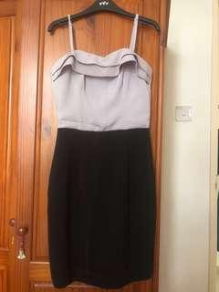 H&M Grey Black Dress