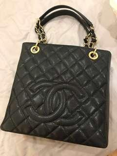 Chanel PST Black Caviar with GHW