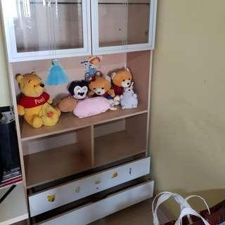 Display cabinet cum book shelves