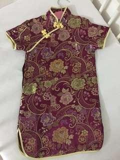 Cheongsam girl dress
