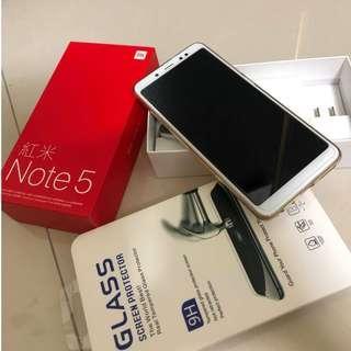 紅米NOTE 5 32G 功能正常 9成9新 盒裝 配件齊全 + 送9H鋼化玻璃貼