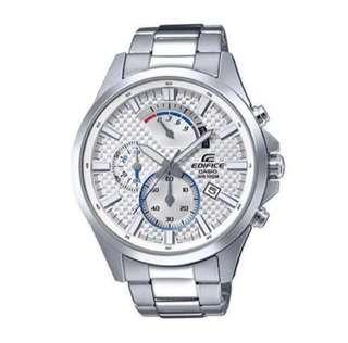 Edifice Stainless Steel Silver-Toned Watch