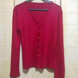 Lisa Maroon Knit Cardigan