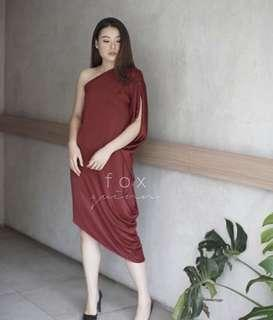 Red Dress / Dress Merah Wanita Elegant