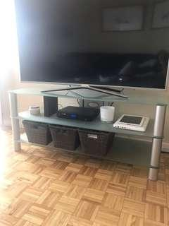 "55"" glass tv stand"