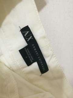 Armani Exchange 白色短褲