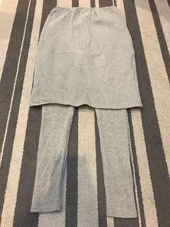 灰色 內搭褲裙