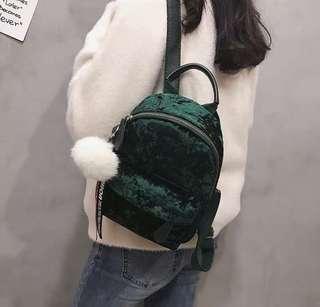🚚 Mini Backpack premium velvet/ wool/ rattan series
