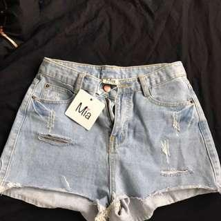Meshki denim shorts
