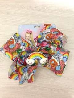 JoJo Siwa rainbow bow large