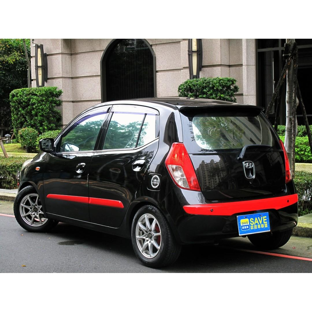 省油省稅 10年 Hyundai I10 1.0 黑 旅程電腦 中控鎖 ABS防789