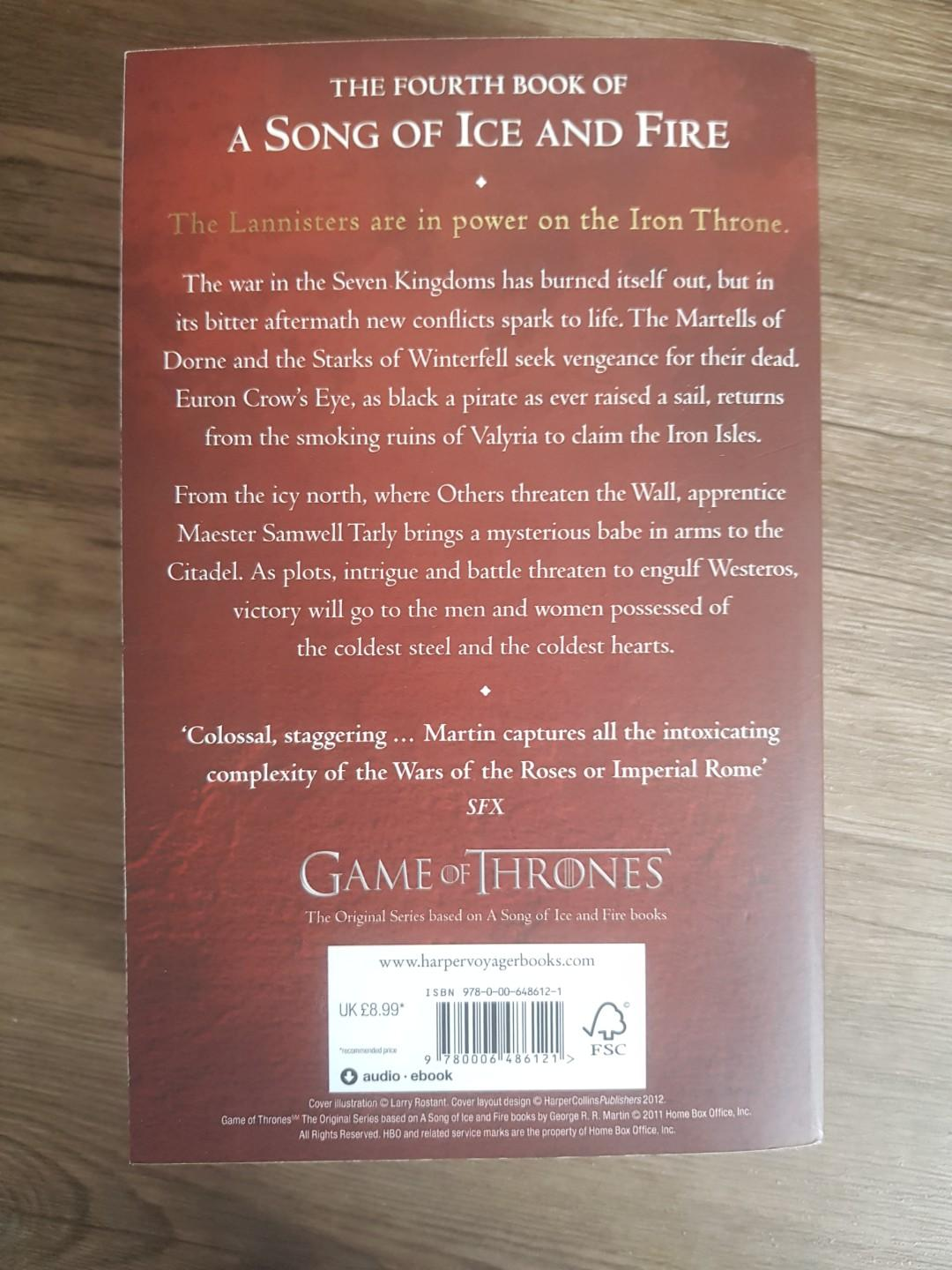 A Feast of Crows by George RR Martin (Game of Thrones)