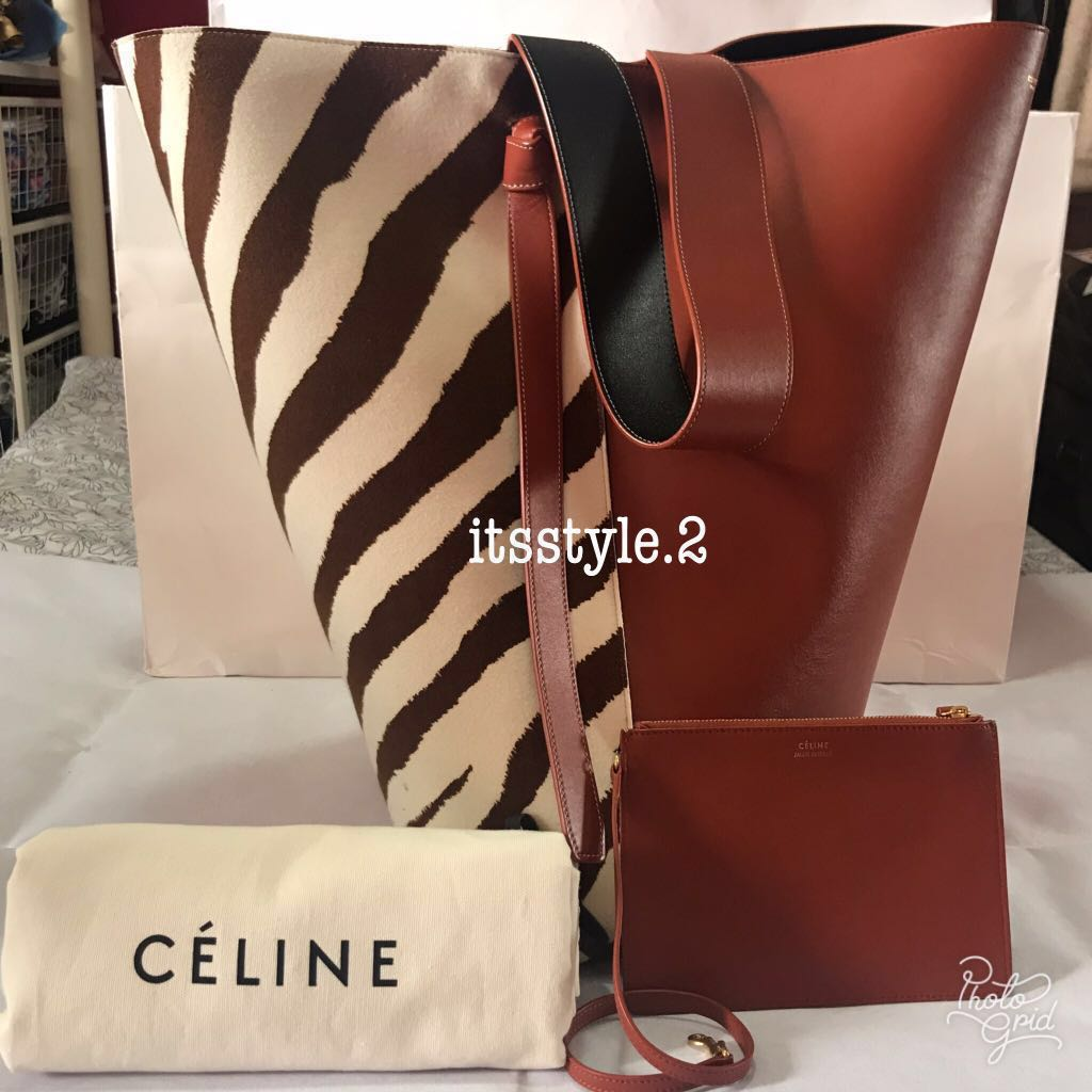 5554751272d4 Almost new condition!  Authentic Celine Twisted Cabas Tote Bag ...